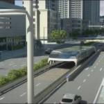 นวัตกรรมขนส่งมวลชนยกระดับ Transit Elevated Bus (TEB)