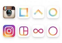 ภาพแถวบนเป็นโลโก้รูปแบบเก่าของ Instagram ส่วนภาพแถวล่างเป็นโลโก้รูปแบบใหม่ / Image: Instagram