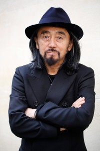 PARIS, FRANCE - JANUARY 19: Designer Yohji Yamamoto poses before the Y-3 Menswear Fall/Winter 2014-2015 Show as part of Paris Fashion Week at Couvent des Cordeliers on January 19, 2014 in Paris, France. (Photo by Richard Bord/Getty Images)