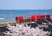 รถไฟกระจกใสในประเทศญี่ปุ่น